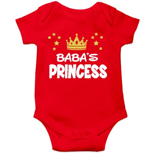 Baba's Princess Baby Romper Red